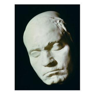 Maske von Beethoven, genommen vom Leben im Alter Postkarte