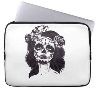 Masken-Schädel Laptopschutzhülle