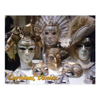 Masken Venedigs Carnaval Postkarte