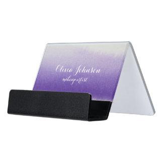 Maskenbildner-Aquarell-Lavendel Schreibtisch-Visitenkartenhalter