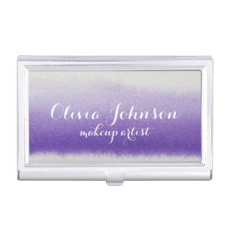 Maskenbildner-Aquarell-Lavendel Visitenkarten Dose