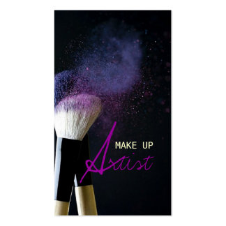 Maskenbildner, Cosmetologist, Schönheit, Salon Visitenkartenvorlage