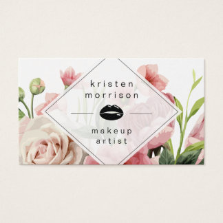 Maskenbildner-Lippenmodernes minimales elegantes Visitenkarten