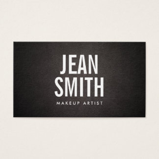 Maskenbildner-mutiger Text-elegantes dunkles Leder Visitenkarte