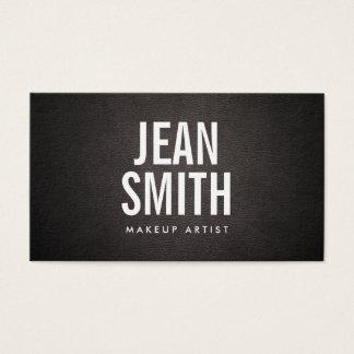 Maskenbildner-mutiger Text-elegantes dunkles Leder Visitenkarten
