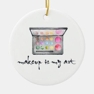 "Maskenbildner-Palette - ""Make-up ist meine Kunst-"" Keramik Ornament"