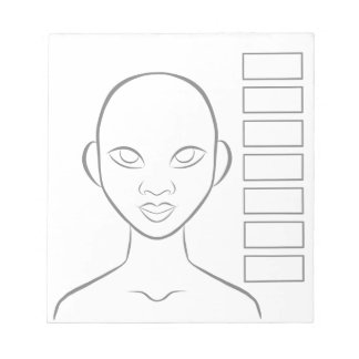 Maskenbildner-Planer Notizblock