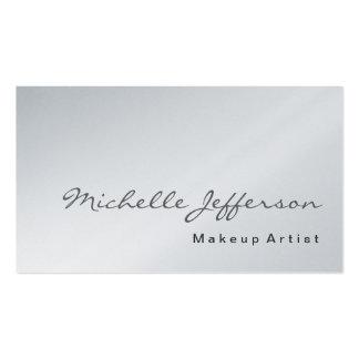Maskenbildner-Platin-Visitenkarte Visitenkarten