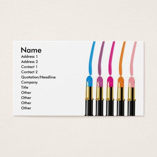 Maskenbildner, Schönheits-Salon, etc., Visitenkarte