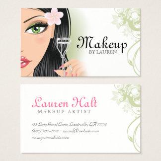 Maskenbildner-Wimper-Lockenwickler-Grün Visitenkarte