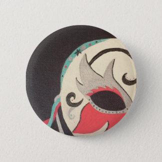 Maskerade-Button Runder Button 5,1 Cm