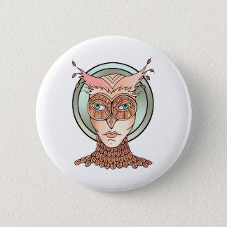 Maskerade-Eule Runder Button 5,1 Cm