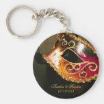 Maskerade-Gastgeschenk Hochzeits-Gold Keychain Schlüsselbänder
