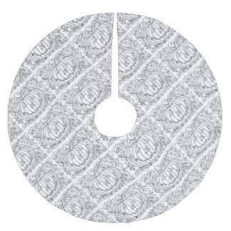 Maskerade-Kürbis-Spinnen-Linie Kunst-Entwurf Polyester Weihnachtsbaumdecke