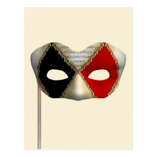 Maskerade-Maske Postkarte