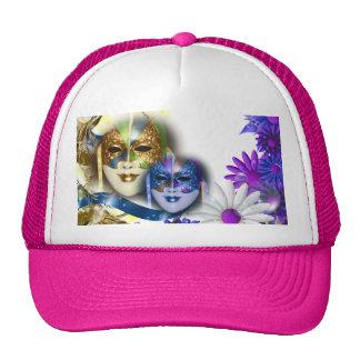 Maskerade maskiert Mädchen, die Name Retromütze