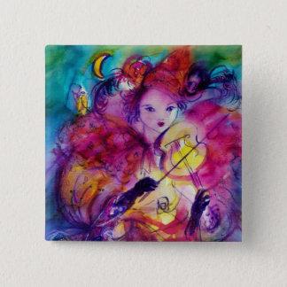 MASKERADE-NACHT/venezianischer Karneval Quadratischer Button 5,1 Cm