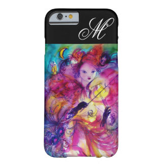 MASKERADE-NACHT/venezianisches Karnevals-Monogramm Barely There iPhone 6 Hülle