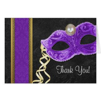 Maskerade-Party danken Ihnen die lila Karten -