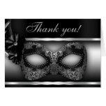 Maskerade-Party danken Ihnen zu merken Karten