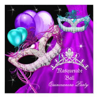 Maskerade Quinceanera maskiert lila Kleid Karte