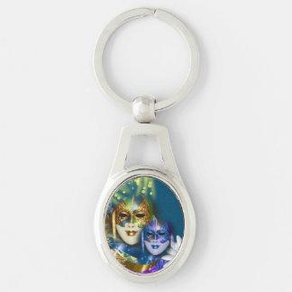 Maskerade quinceanera venezianische Masken Schlüsselanhänger