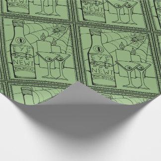 Maskeradenewt-Martini-Linie Kunst-Entwurf Geschenkpapier