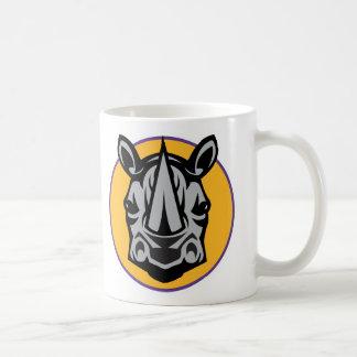 Maskottchen-Nashorn-Kreisentwurf Kaffeetasse
