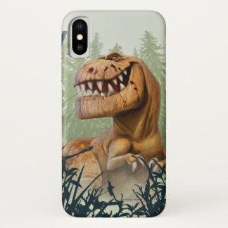 Maskuliner Typ im Wald iPhone X Hülle
