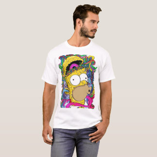 maskulines Hemd psychedelischer Homer T-Shirt