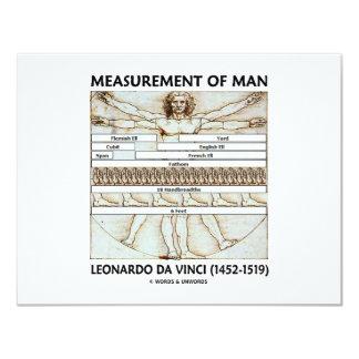 Maß des Mannes 10,8 X 14 Cm Einladungskarte