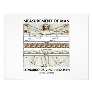 Maß des Mannes Personalisierte Ankündigungskarte