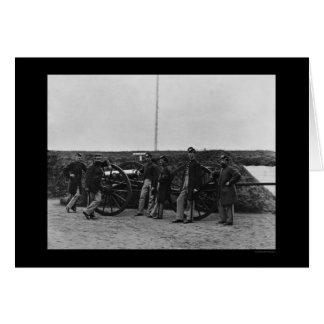 Massachusetts-Gewehr-Crew am Fort Totten 1865 Karte