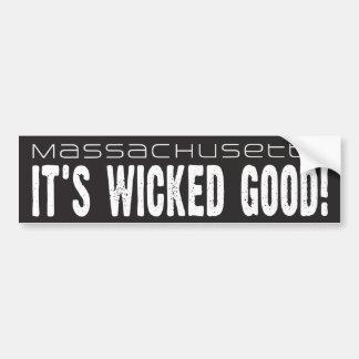 Massachusetts, ist es böses gutes! Autoaufkleber