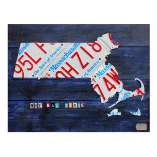Massachusetts-Kfz-Kennzeichen-Karten-Postkarte Postkarte