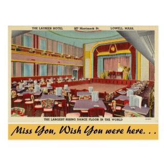 Massachusetts, Laurier Hotel, Lowell Postkarte