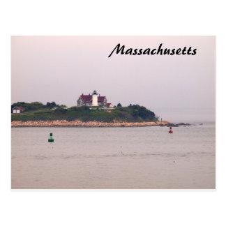 Massachusetts-Leuchtturm-Postkarte Neu-England Postkarte