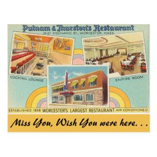 Massachusetts-, Putnam- u. Thurstonsrestaurant Postkarte
