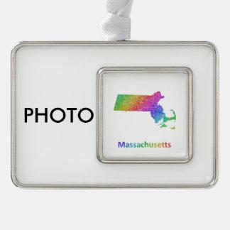 Massachusetts Rahmen-Ornament Silber