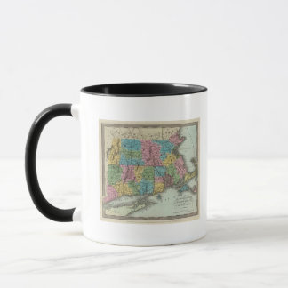 Massachusetts Rhode Island und Connecticut Tasse