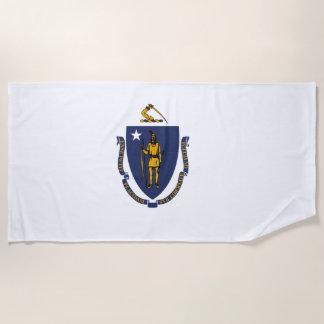 Massachusetts-Staats-Flagge Strandtuch