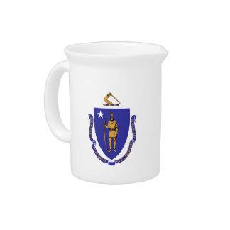 Massachusetts-Staats-Flaggen-Krug Getränke Pitcher