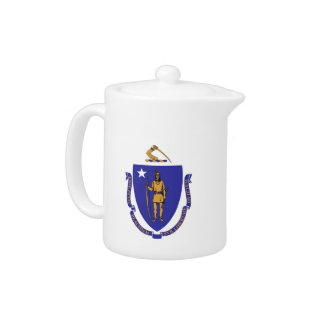 Massachusetts-Staats-Flaggen-Teekanne