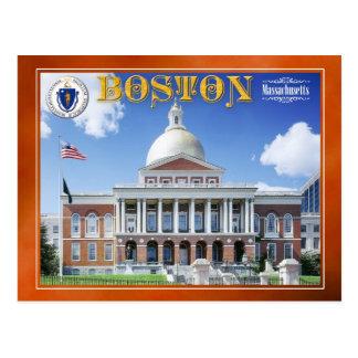 Massachusetts-Staats-Haus in Boston Postkarte