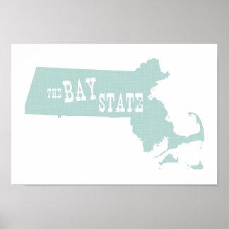 Massachusetts-Staats-Motto-Slogan Poster