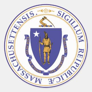 Massachusetts-Staats-Siegel Runder Aufkleber