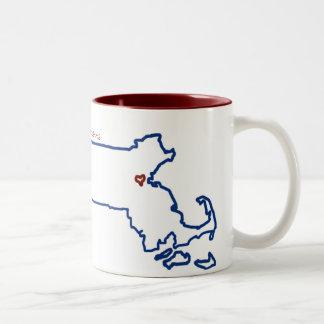 Massachusetts-Tasse Zweifarbige Tasse