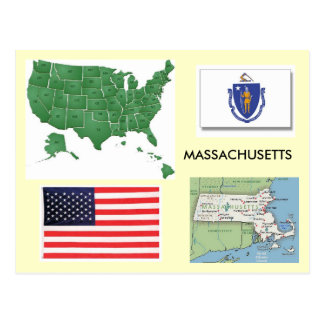 Massachusetts, USA Postkarte