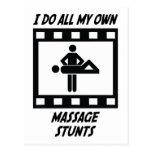 Massage-Bremsungen Postkarten