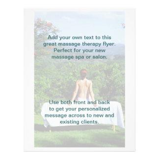 Massage-Foto im Freien 21,6 X 27,9 Cm Flyer
